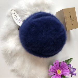 NWT KANGOL FURGORA  BERET BLUE RABBIT HAIR OS